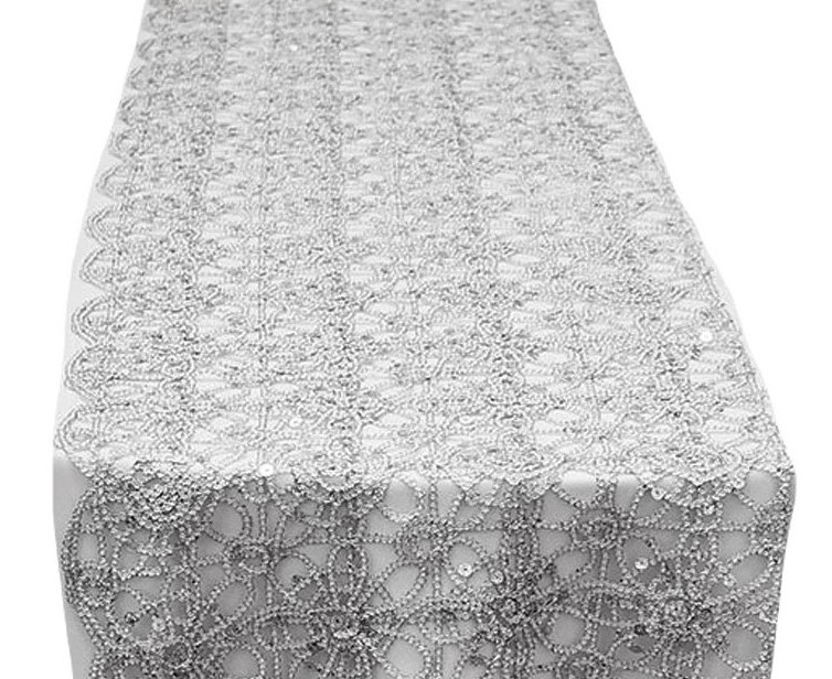 Silver Artistic Braided Table Runner