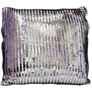 Silver Piano Sequin Pillow