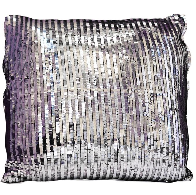 Silver Piano Sequin Pillow