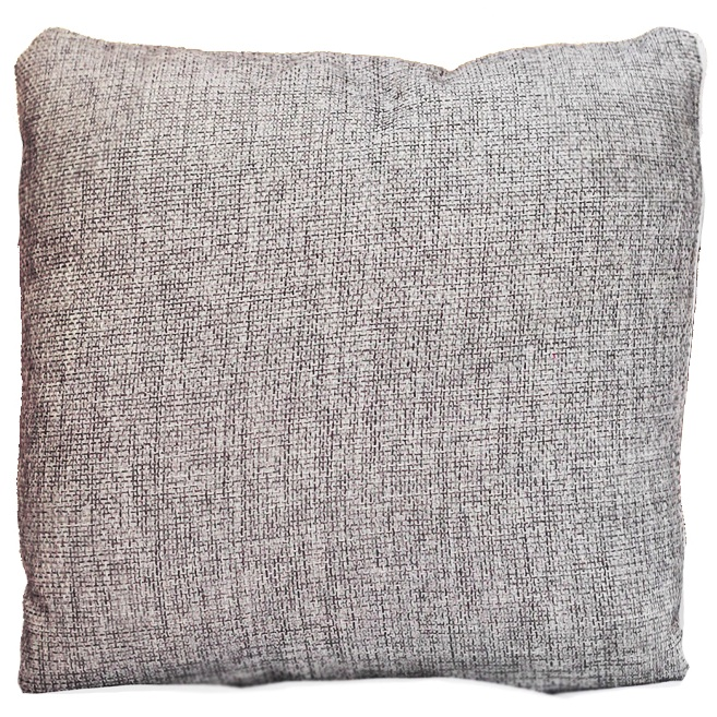 Silver Poly Burlap Pillow