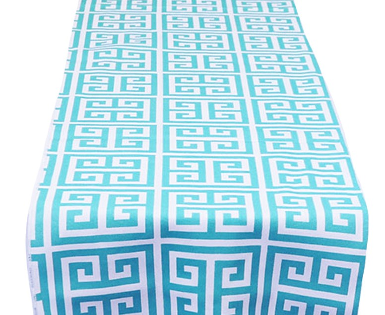 Turquoise Mykonos Table Runner