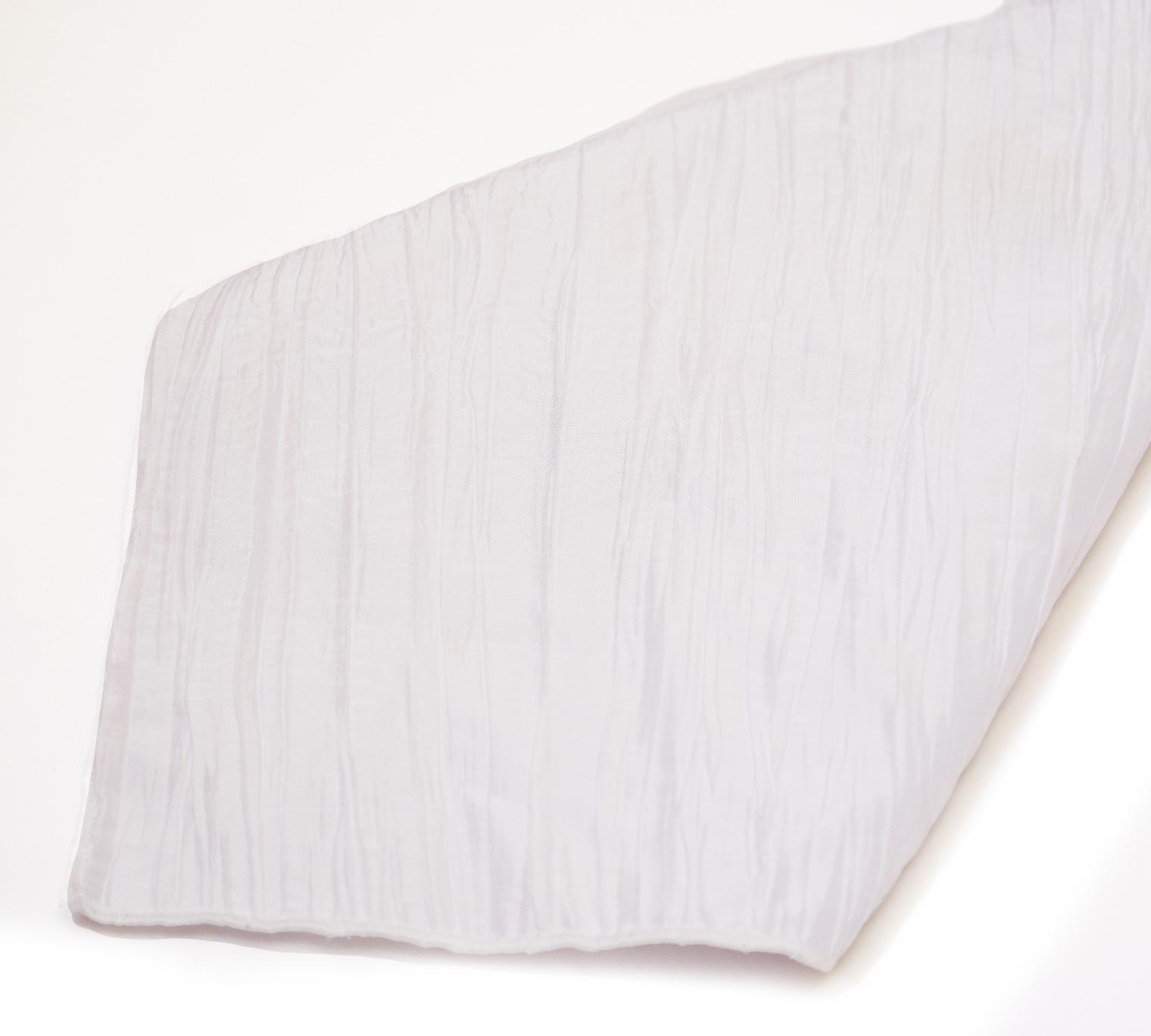 White Crinkle Taffeta Napkins