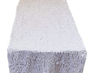 White Dazzle Table Runner