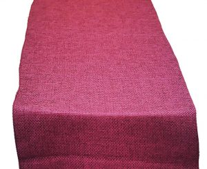 Boysenberry Poly Burlap Table Runner
