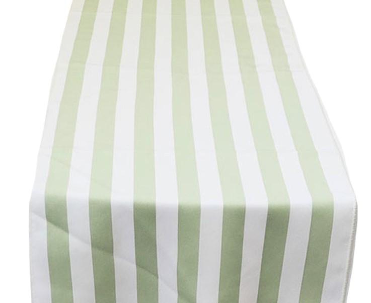 Celedon White Stripe Runner
