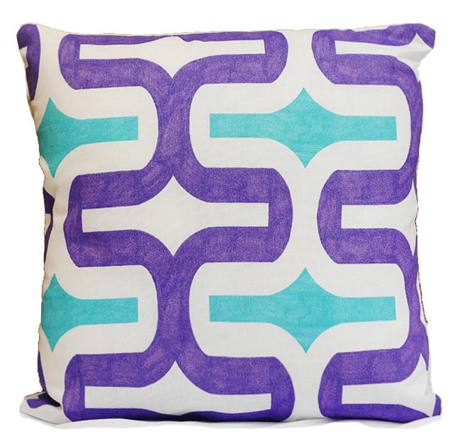 Grape Turquoise Deco Pillow2