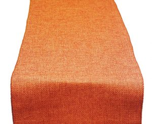 Terra Cotta Poly Burlap Table Runner