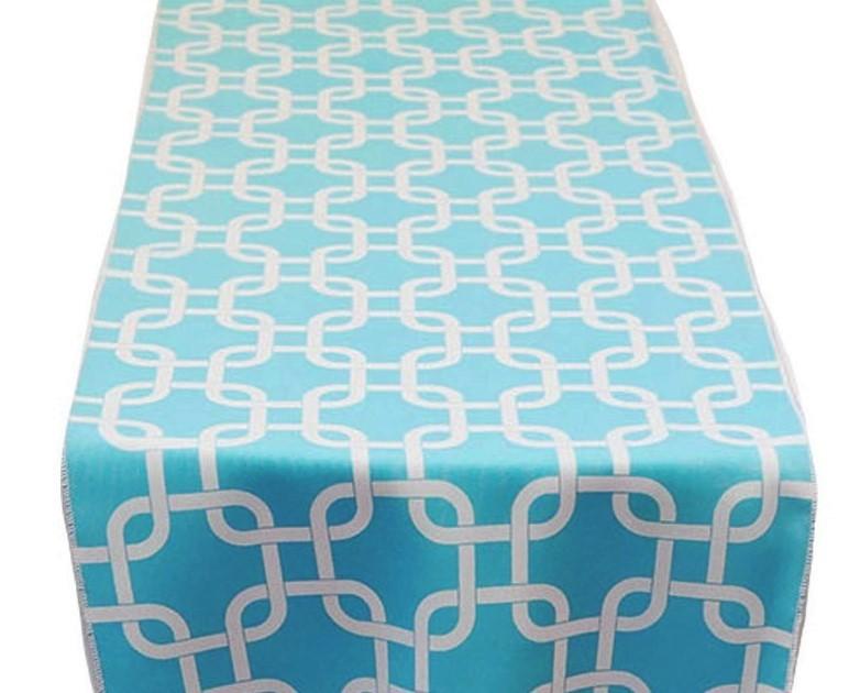 Turquoise Links Table Runner