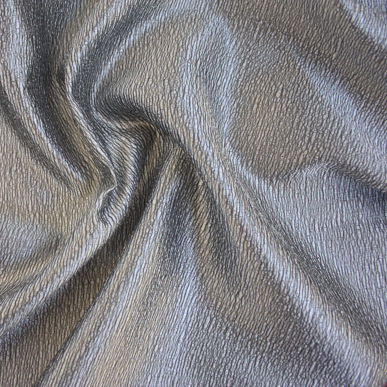 Silver Metallic Crackle Table Linen Rental Tablecloth
