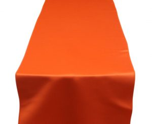 Orange Lamour Table Runner