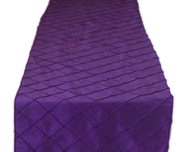 Purple Pintuck Table Runner