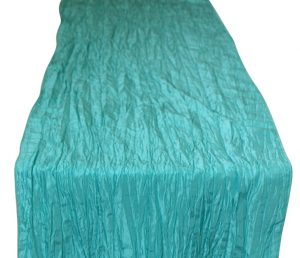 Aquamarine Crinkle Taffeta Table Runner