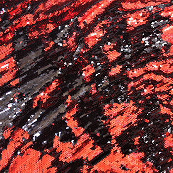 Red Black Chameleon Sequin