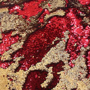 Red Gold Chameleon Sequin