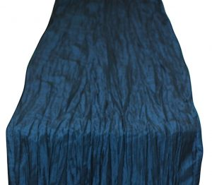 Teal Crinkle Taffeta Table Linen Runner