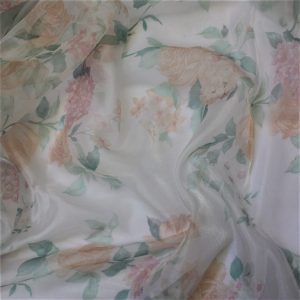 Peach Floral Organdy
