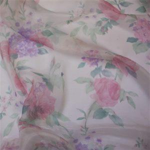 Pink Floral Organdy